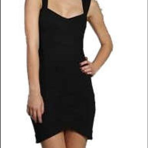 Ted Baker Black Corbin Bodycon Dress Size 1 (XXS)